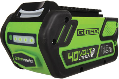 greenworks g max 4 ah battery