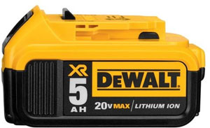 dewalt dc205 20v max xr lithium ion battery